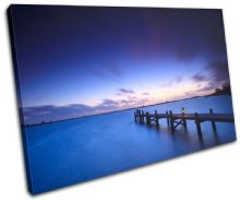 Lake Jetty Pier Sunset Seascape - 13-1051(00B)-SG32-LO